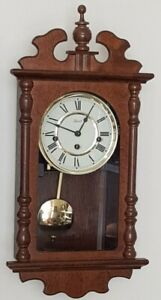 VINTAGE HERMLE 8 DAY WESTMINSTER CHIME WALL CLOCK GWO AND CONDITION