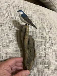Richard Lamson Miniature Collection Nuthatch Wall Sculpture Handpainted & Signed