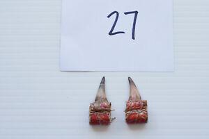 """1-1/8"""" SINGLE SPURS, EASTERN WILD TURKEY LOT OF TWO lot #27"""