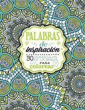 Palabras de inspiracion (Libro para colorear): 30 versiculos de la Biblia para c