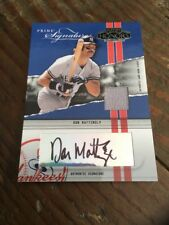 DON MATTINGLY 2004 PLAYOFF HONORS GAME JERSEY AUTOGRAPH #6/23 Rare