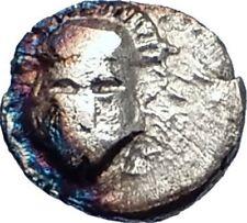 MESEMBRIA in Thrace 450BC Helmet & Wheel Ancient Silver Greek Coin RARE 73181