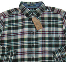 Men's WOOLRICH Green White Colors Plaid Flannel Cotton Shirt X-Large XL NWT NEW