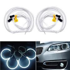 4x CCFL Halo Rings Angel Eyes Light Headlight 6000K Fr BMW E36 E38 E39 E46 131mm