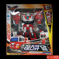 TOBOT V RESCUE R Fire Engine Truck Transformer Robot Car Tokey Young Toys 2018