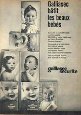 K- Publicité Advertising 1963 Lait en poudre Galliasec Gallia bébé