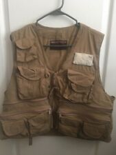 Fishing Vest Size M American Fisherman Sportsman Apparel # 35588 Khaki