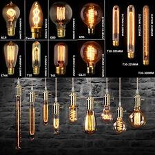 40/60W Vintage Antique Edison Style Carbon Filamnet Clear Glass Bulb 110V/220V