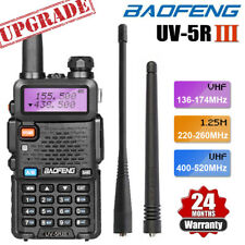 Baofeng Uv-5R Iii Tri-Band Walkie Talkie Long Range Two Way Ham Radio + Earpiece