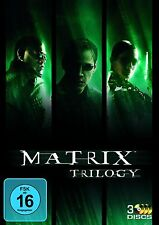 MATRIX 1-3 TRILOGY (Keanu Reeves) 3 DVDs NEU+OVP