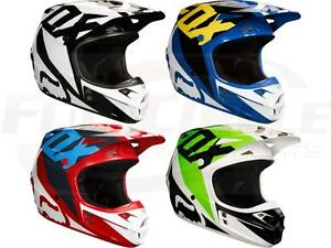 Fox Racing 2018 V1 Race Helmets Motocross Off-Road MX/ATV/MTBike Adult Sizes