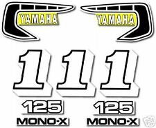 YAMAHA 1981 YZ125 COMPLETE DECAL GRAPHIC KIT