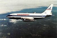 PIEDMONT AIRLINES BOEING 737 POSTCARD W/ PIEDMONT LOGO
