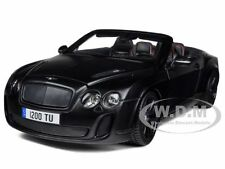 BENTLEY CONTINENTAL SUPERSPORTS CONVERTIBLE MATT BLACK 1/18 CAR BY BBURAGO 11035