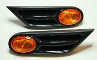 2x OEM BMW MINI R56 R57 ORANGE SIDE INDICATOR REPEATER SCUTTLE TRIM BLINKERS KIT