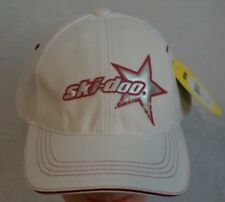 SKI DOO Ladies White Star Cap Hat Adjustable NWT