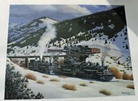 Howard Fogg D&RGW Denver & Rio Grande Western K37 493 & 497 Meet Print 15x17