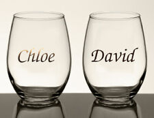 Personalised Name Sticker Wedding Wine Glass Water Bottle Vinyl Decal Party Gift