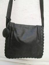 Joli sac à main Anne KLEIN noir cuir  vintage bag
