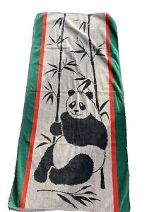 Panda Beach Towel Vintage Ipanema Cotton South Africa Bamboo Cecil Saydah