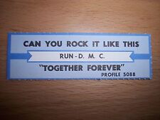 """1 Run D.M.C. Can You Rock It Like This Jukebox Title Strips Cd 7"""" 45Rpm Records"""
