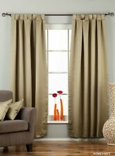 "Olive Green Tab Top 90% blackout Curtain / Drape / Panel - 50X84"" - Piece"