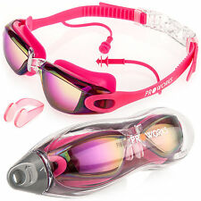 Proworks Swimming Goggles With Mirrored Lenses UV Protection and Anti-fog COATI