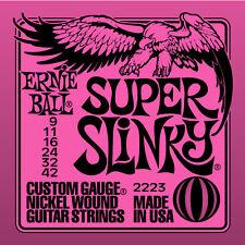 Ernie Ball 2223 Super Slinky 9 42 Corde Chitarra Elettrica SPEDIZIONE TRACCIATA