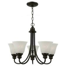 New Sea Gull Lighting 35940-782 Windgate 5-Light Chandelier Bronze Pendant $192
