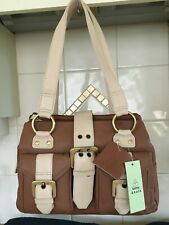 LOVELY LADIES GENUINE LEATHER SHOULDER BAG BY TOMMY & KATE TAN/BEIGE