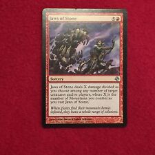 MTG Jaws of Stone Shadowmoor Magic the Gathering Uncommon Red Sorcery Card