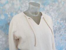 Orvis Sz Xs Beige Long Sleeve V-Neck Women's Sweater