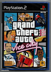 PS2 Grand Theft Auto Vice City, UK/Euro Pal, French Version, Sony Factory Sealed