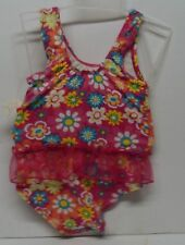 Infant Size 18 Months Swimsuit Bathing Suit Flowers Pink Lace *New