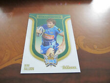 2014 NRL TRADERS TITANS BEAU FALLOON SEASON TO REMEMBER HERITAGE ROUND CARD