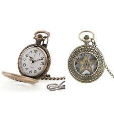 Inlaid Pentagram Pocket/Fob Watch Steampunk/Victorian/Wedding/Goth Vtg/Antique