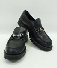 Gucci Black Leather Horse Bit Loafer Shoes Sz 6