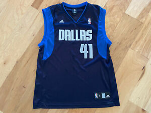 #41 Dirk Nowitzki NBA ADIDAS large jersey