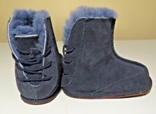Authentic UGG Australia Infant Baby BOO Blue Boots Size Medium 4/5(12-18 M)