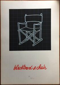 FABIO DE POLI litografia  Bllackboard & Chair 100x70 firmata numerata  Affare