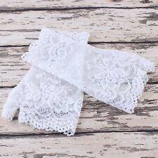New Women Evening Bridal Wedding Party Dressy Lace Fingerless Gloves Mittens
