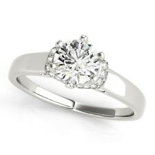 1.20 Carat Round Cut Diamond Engagement Rings 14K Solid White Gold Size M N O P