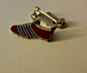 Claret & Blue Stripes Football Boot Enamel Pin badge NEW West Ham Aston Villa