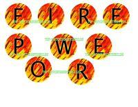 FIREPOWER 2  Pinball Machine Target Cushioned Decals