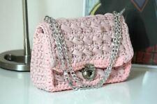 Light Pink Crochet Crossbody Handbag.