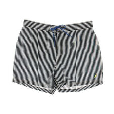 NEW Mens Nautica Quick Dry Navy Key Striped Beach Surf Swim Board Shorts Sz XL