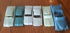 LOT OF 6 VINTAGE F & F MOLD & DIE WORKS INC PLASTIC CARS PIECES PARTS DAYTON OH