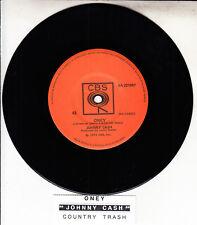 "JOHNNY CASH  Oney 7"" 45 rpm vinyl record NEW + jukebox title strip"