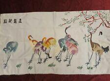 Antiguo chino Panel de bordado de mano Colgante De Pared
