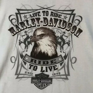 Harley Davidson Live to Ride Jims On The Beach St. Pete Beach FL Sz 4XL